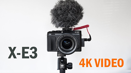 fujifilm x-e3 4k video recording